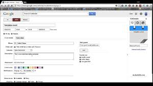 Google Weekly Calendar Template How To Create A Google Calendar Event Template Youtube