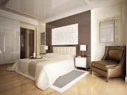 master bedroom ideas. Mid-sized Master Bedroom With White Walls And Ceiling Light Wood Floor Ideas