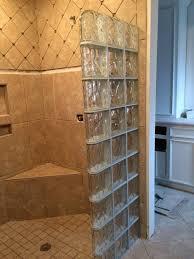 walk in glass block shower