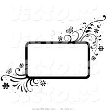 vector of black and white rectangular background frame with vines and erflies vector 2514 bnp design studio