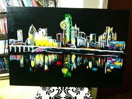 painting with a twist dallas tx elegant dallas tx skyline painted by adrianne alexander