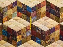 Tumbling Blocks Quilt -- marvelous meticulously made Amish Quilts ... & ... Hand Painted Tumbling Blocks Quilt Photo 4 ... Adamdwight.com