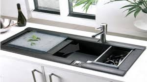 Modern Kitchen Sink Faucets Fabulous Modern Kitchen Sink With Black Display Also Mini Faucet