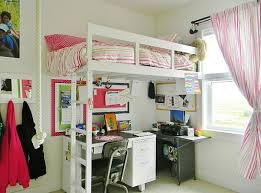 view in gallery a simple loft bed with a work table underneath saves up on ample space bunk bed office space