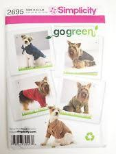 Dog Costume Patterns Stunning Simplicity Pet Clothing Sewing Patterns EBay