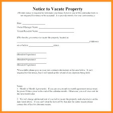 Day Notice To Vacate Letter Sample Tenant From Landlord 4 5