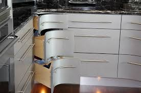kitchen cabinet drawers. Curvy Corner Drawers Steal The Show In This Kitchen [Design: Grace Blu Designs] Cabinet