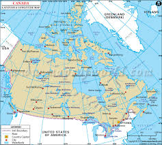 Canada Latitude and Longitude Map | Maps | Pinterest | Social studies