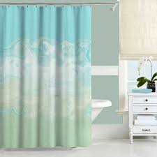 Mint Green Shower Curtain Aqua Blue Shower Curtain Bath