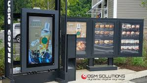 Drive Thru Vending Machine Unique OSM Solutions Provides Drivethru Digital Menuboard For Starbucks