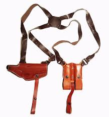 leather horizontal miami vice shoulder holster for colt 1911 image 0