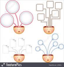 Idea Concept Four Ideas Charts Stock Illustration