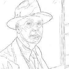 Adult Self Portrait Coloring Page Van Gogh Self Portrait Coloring