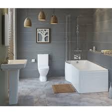 slope shower bath suite
