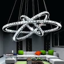 modern chandelier hot diamond ring led crystal light pendant lamp circles guarantee diffe size position