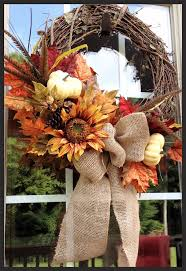 Fall Wreath - Would be so easy to make. Just a burlap bow and a large fall  spray. Get started with this project at Artco Crafts!