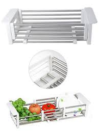 Kitchen Sink Dish Rack Insert Tray Bowl Organizer Kitchen Draining Rack