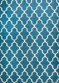 rugsville moroccan trellis teal blue wool 13651 rug 2x3 13651 23