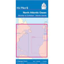 Nv Pilot Chart 5 North Atlantic Ocean Gibraltar To Caribbean Atlantic Islands