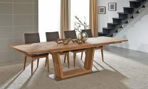 LENA Design-Tisch schräges Gestell Wildeiche Kernbuche Nuß