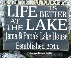 personalized lake house signs personalized lake house decor sign wood hand painted life is better at the signs personalized metal lake house signs