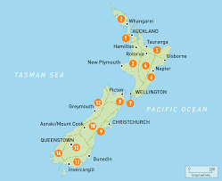 map of new zealand  new zealand regions  rough guides  rough guides