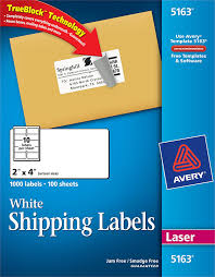Avery Template 5163 Avery White Shipping Labels With Trueblock Technology 5163