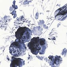 Behang Royal Blue Flowers I Multicolor Vliespapier 3896x280cm In