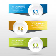 3 Banners With Round Label Template Vector | Free Download