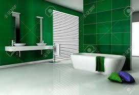 bathroom interior with modern fixtures bathtub and contemporary