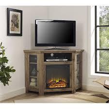 barnwood 48 inch corner fireplace tv stand