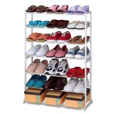 interior, Adorable Concept Of Covered Shoe Rack Made Of Iron Material  Available With Seven Storage