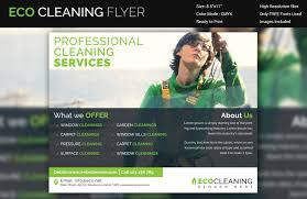 house cleaning flyer psd format eco cleaning services flyer