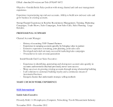 Inside Sales Resume Objective Resume Inside Sales Objective Examples Example And Free Maker 6