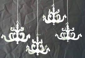 cut out chandelier elegant or mini paper set of 8 wood cut out chandelier