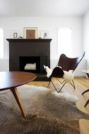 black painted fireplace
