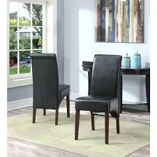 faux leather parsons chairs home tanners brown dining chair set of 2 the depot red