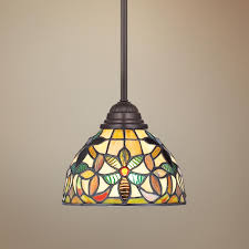 Tiffany Style Kitchen Lights Quoizel Kami Tiffany Style Mini Pendant Light R9751