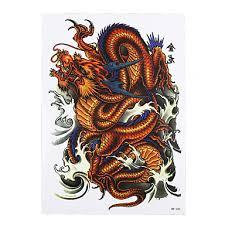 639 8ks Tetování Drak Klasický Totem Obrázek Obtisk Konstrukce Dočasné Rameno Body Art Pasta Papír Falešná Tetování Nálepka Odnímatelný