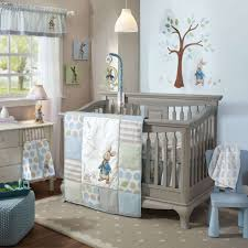 baby nursery cozy grey painted wood boy baby crib sets with modern glass hanging lampand