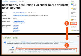 Citation Style Apa Tourism Hospitality Management Guides