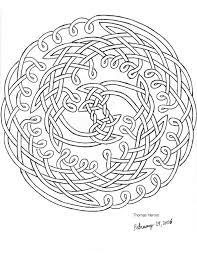 Printable Celtic Coloring Pages | Second Hand Drawn Celtic Knot by ...