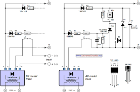 model railway short circuit beeper circuit diagram