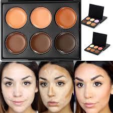 professional 6 colors bronzer dark skin color foundation makeup bronzer highlighter waterproof concealer palette contour kit