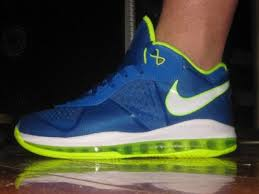 lebron 8. first look at nike lebron 8 v2 low 8211 blue amp electric green lebron
