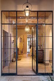 metal framed glass front doors