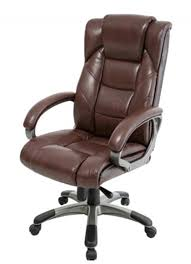 northland brown leather office chair