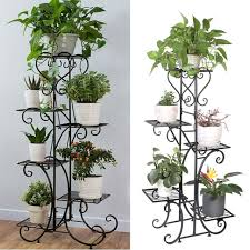 wooden plant shelf 5 tier stand flower