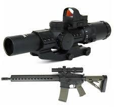 simmons red dot scope. tacfire 1-4 x24mm illuminated p4 sniper rifle scope w/mini red dot \u0026 simmons h