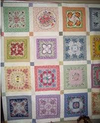 235 best Handkerchief quilt images on Pinterest | Basket quilt ... & vintage hankie quilt Adamdwight.com